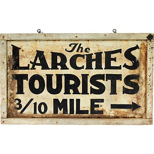 The Larches Tourists Sign