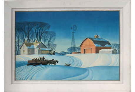 Winter Lithograph by Dale Nichols