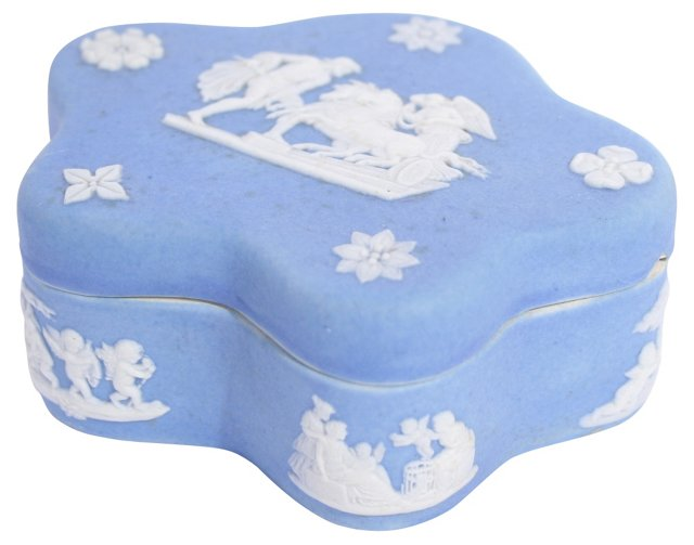 Blue Wedgwood Container