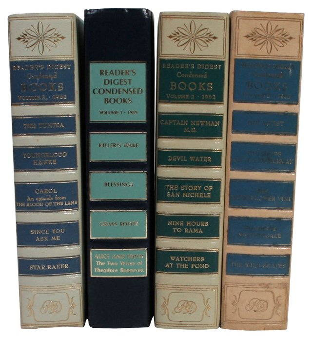 Midcentury Decorative Books, S/4