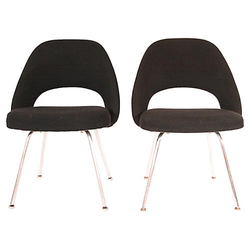 Eero Saarinen Executive Side Chairs, S/2