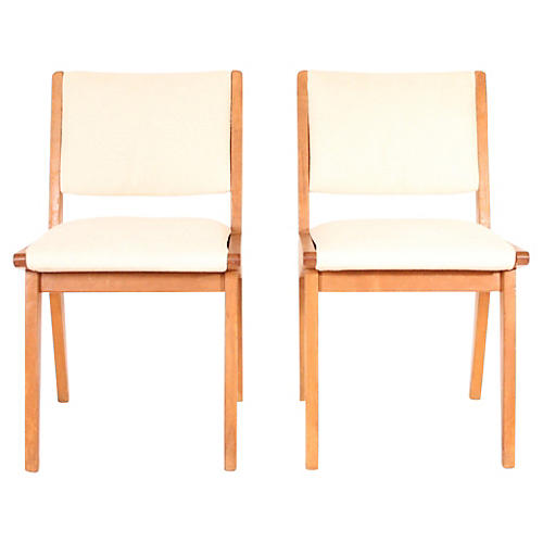 Jens Risom Side Chairs, Pair