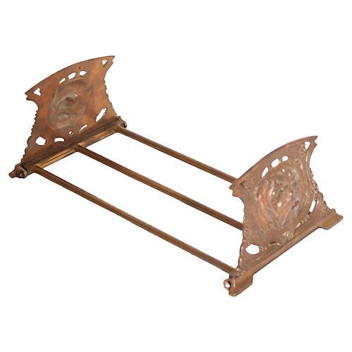 Adjustable Brass Bookends