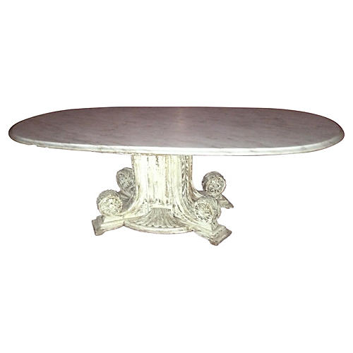 Vintage Marble Column Coffee Table
