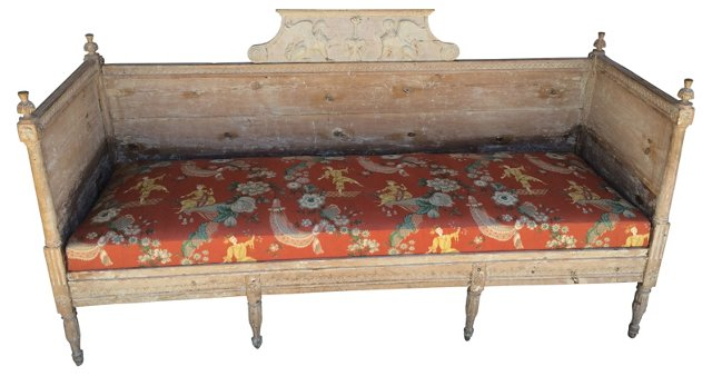 19th-C.  Swedish Bench Daybed