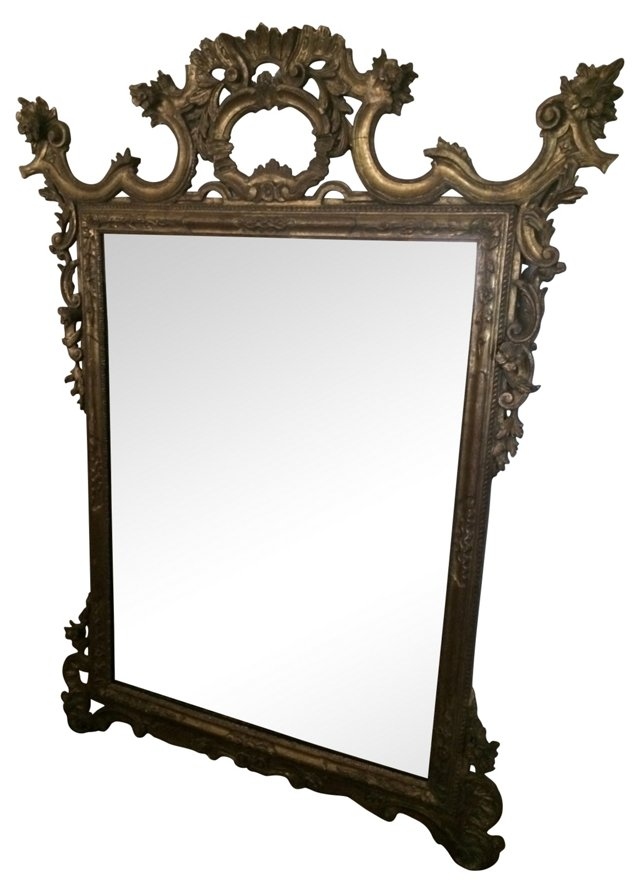 19th-C. Gilded French  Mirror