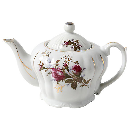 Teapot With Floral Design Music Box