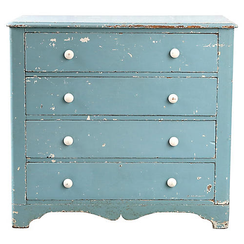 Blue Farmhouse-Style Dresser