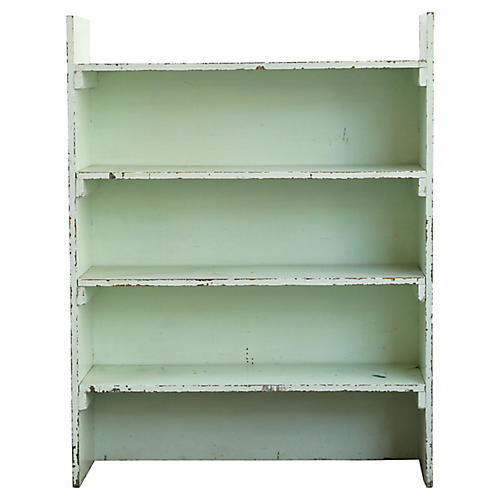 Green Farmhouse-Style Shelf