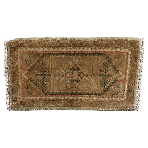 Handwoven Oushak Vintage Rug