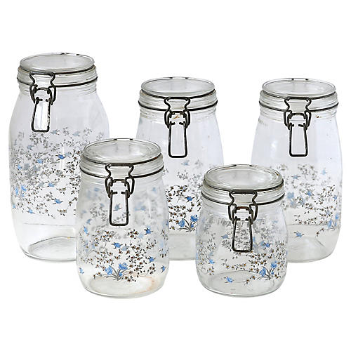 Kitchen Canisters, S/5