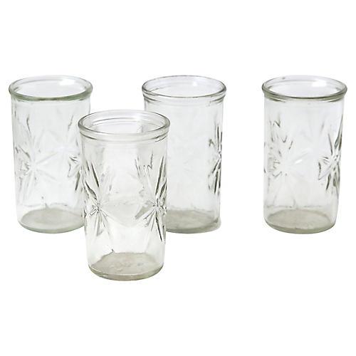Set of 4 Crystal Juice Glasses
