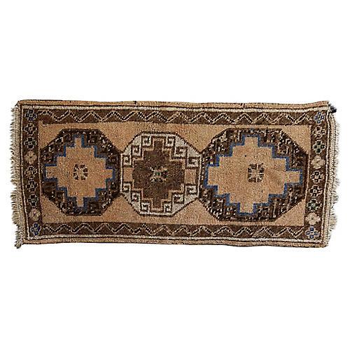 Vintage Handwoven Oushak Rug