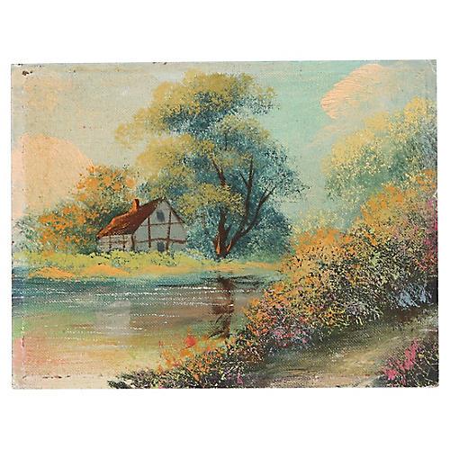 Lake Shore Oil Painting