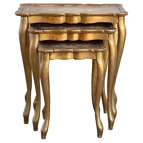 Florentine Nesting Tables, S/3