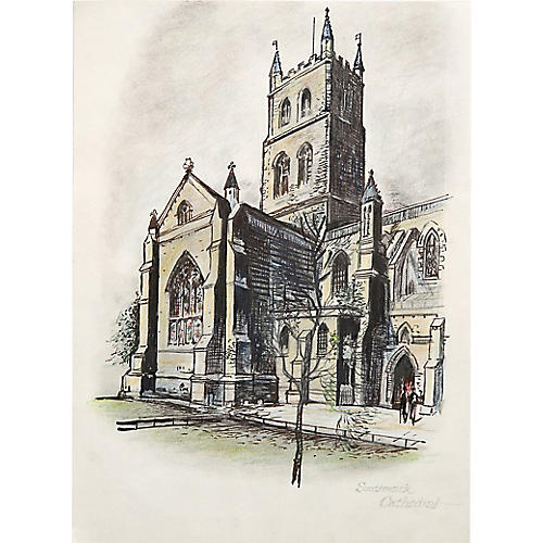 Southwark Cathedral Drawing
