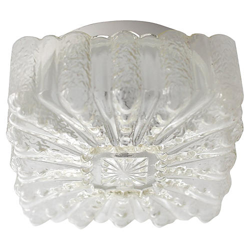 Crystal Glass Ceiling Fixture