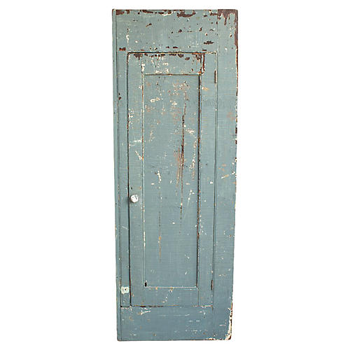 Farmhouse Blue Chimney Cabinet