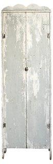 Gray Chimney Cabinet