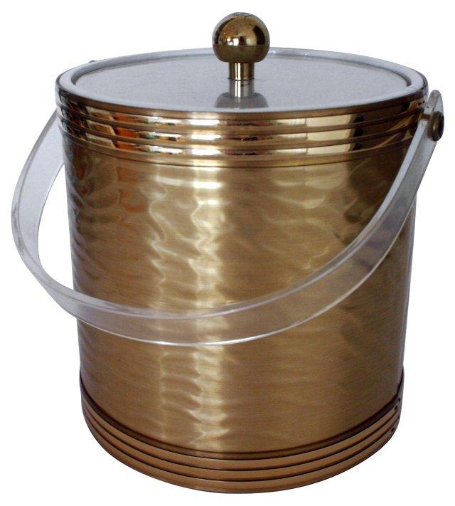Gold & Lucite Ice Bucket