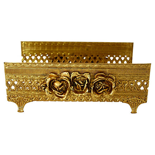 Brass Floret Tissue Holder