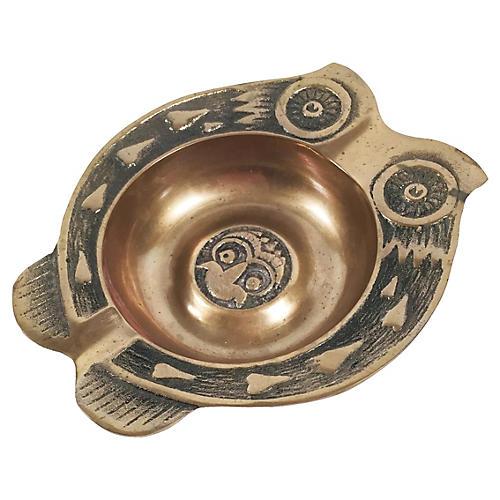 Brass Owl Catchall