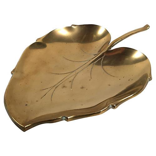 Brass Leaf Dish