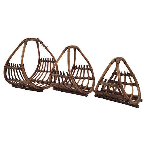 Rattan Nesting Baskets, S/3