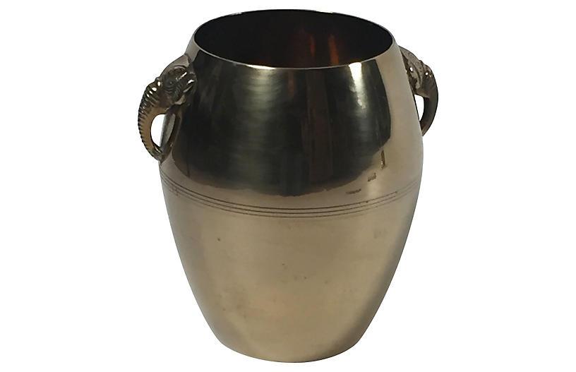 Brass Bucket w/ Elephant Handles