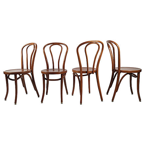 Bentwood Café Chairs, S/4