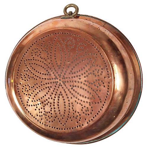 Floral Copper Strainer