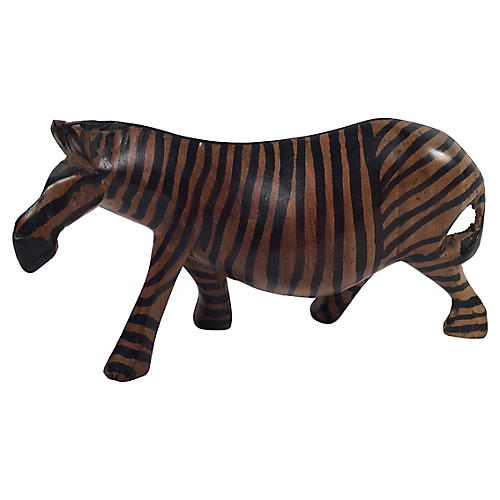 Carved Wood Zebra