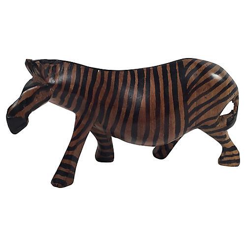 Carved Wood Zebra