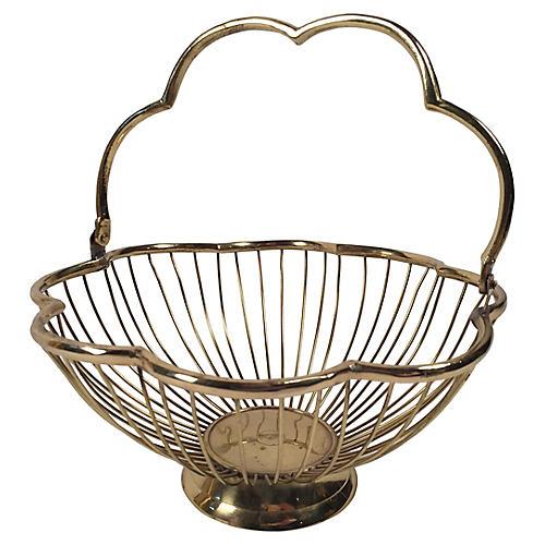 Scalloped Brass Basket