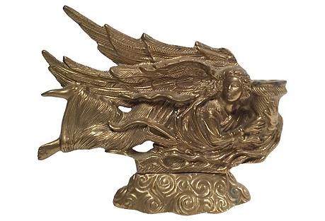 Brass Angel Candleholder
