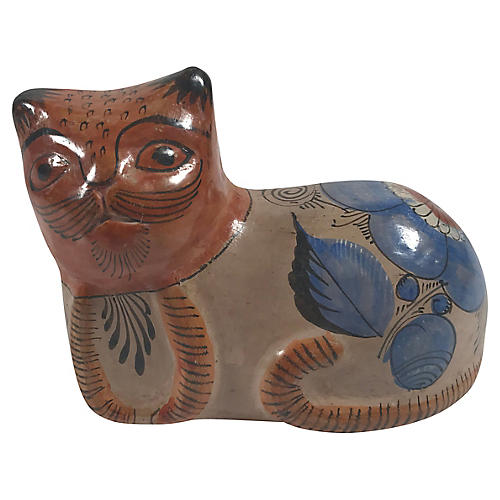 Tonala-Style Painted Cat
