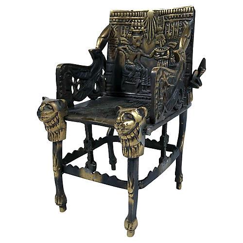 Brass King Tut Chair Sculpture