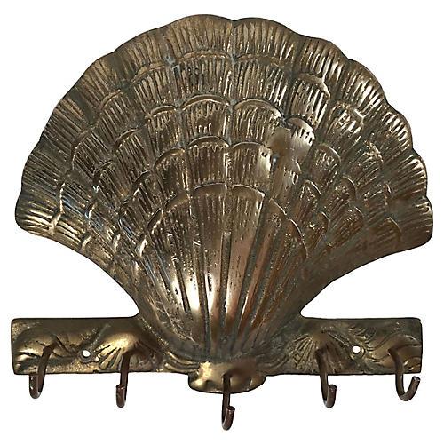 Brass Shell Key Hook