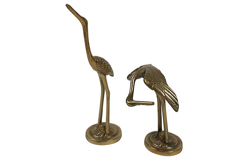 Petite Brass Cranes, S/2