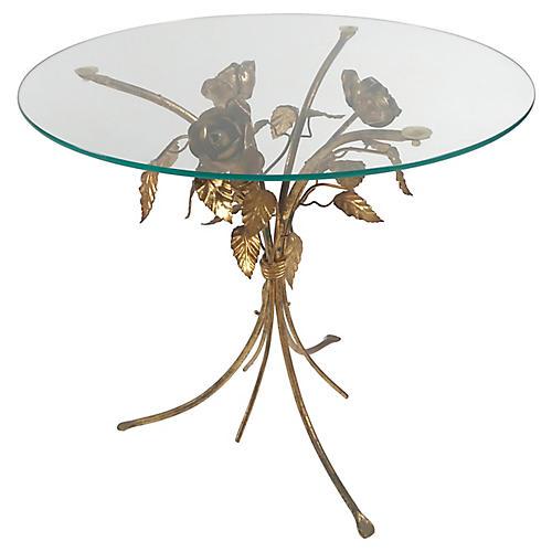 Gilt Rosette Accent Table