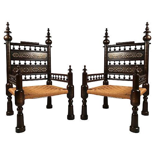 Punjabi Wedding Chairs, pair