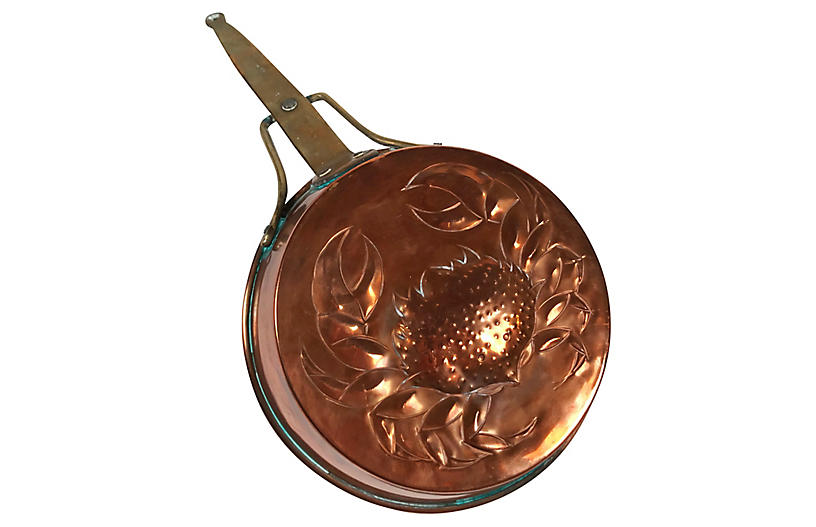 Copper Pan w/ Crab Relief