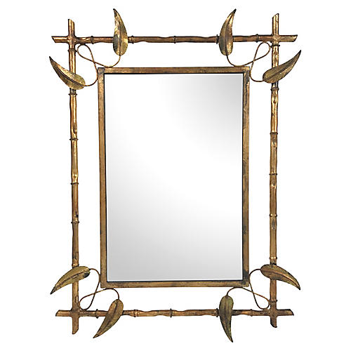 Spanish Gilded Leaf Mirror