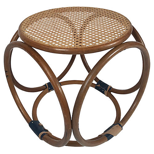 Bentwood Stool w/ Leather Bindings