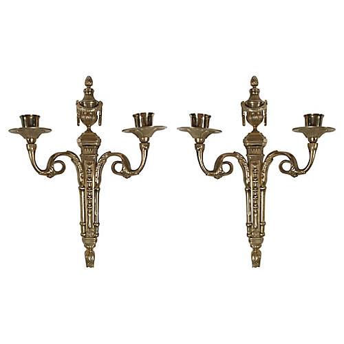 Louis XVI-Style Candle Sconces, Pair