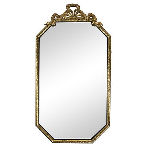 Brass Ribbon Wall Mirror