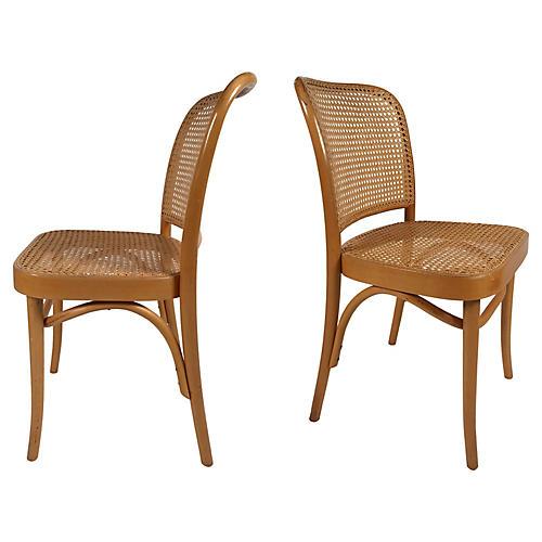 Josef Hoffmann for Thonet Chairs, Pair