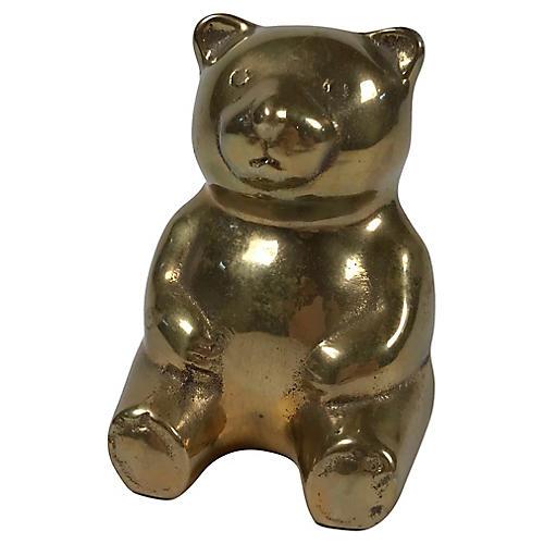 Brass Bear Figurine
