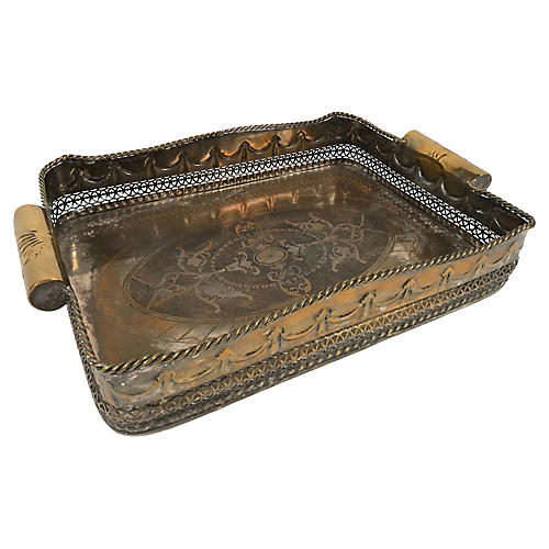 Brass-Plated Tray
