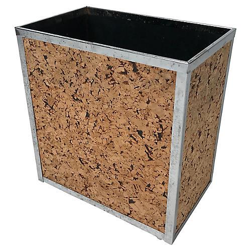 Midcentury Cork Wastebasket
